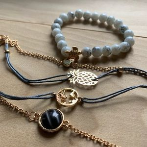 Stackable bracelets - vacation vibes